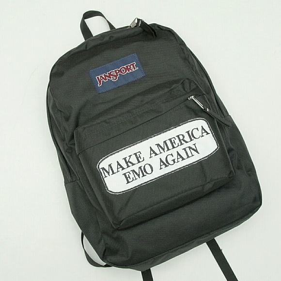 JANSPORT Make America Emo Again Backpack Grunge NWT