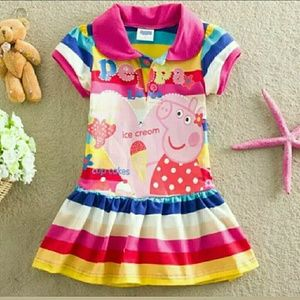 Peppa Pig Other - NWT Peppa Pig Rainbow Dress Size 2-5
