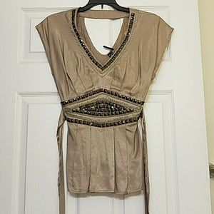 Tops - Taupe blouse