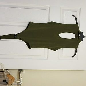 Tops - Green olive body  suite