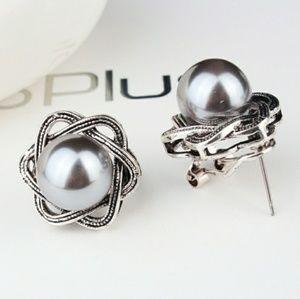 Jewelry - Galaxy Black Pearl Stud Earrings
