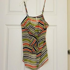 Tops - Multi color strap blouse