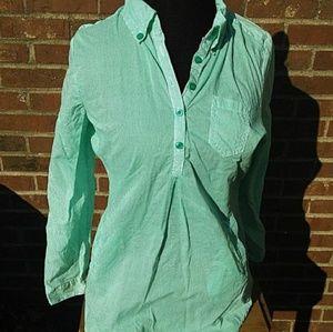 Antilia Femme Tops - Antilia Femme Green & White Striped Tunic
