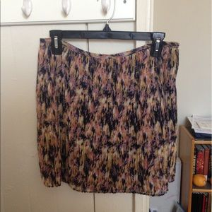 Madewell Broadway & Broome Floral Pleated Skirt