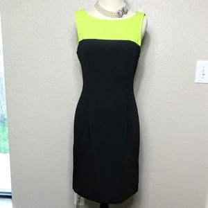 Connected Apparel Dresses & Skirts - Connected Apparel Lime Green & Black Dress