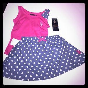 U.S. Polo Assn. Other - Girls Skirt U.S Polo set
