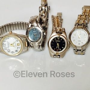 Seiko Accessories - Watches Lot 4 Seiko Timex Geneva Precision Gruen