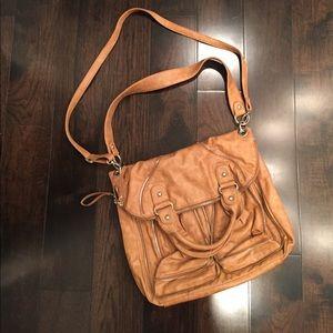 Tan Leather Messenger Bag - CA