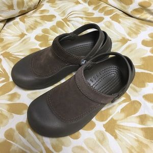 CROCS Shoes - Crocs with leather