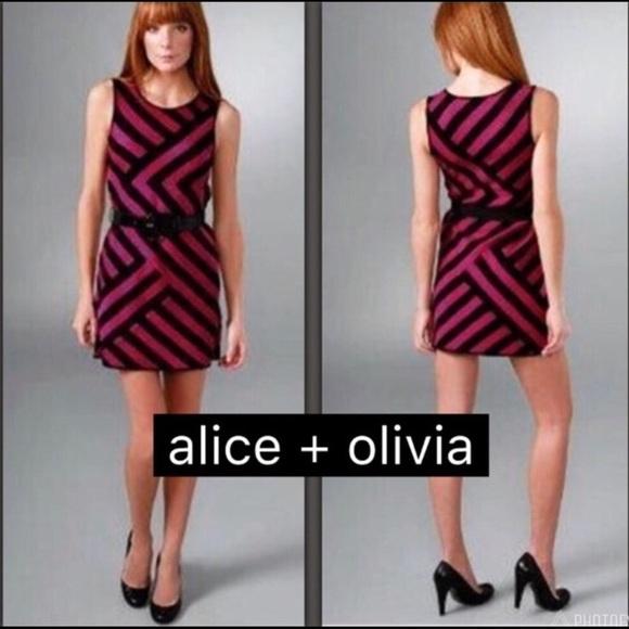 Alice + Olivia Dresses & Skirts - 🔥🅗🅞🅢🅣 🅟🅘🅒🅚🔥 Alice + Olivia Chevron Dress