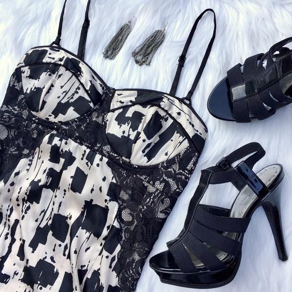 Dresses & Skirts - brushstrokes bustier dress size XS, S