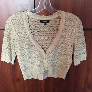 Express crop short sleeve cardigan - Med
