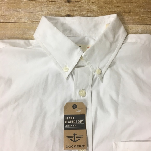 70 off dockers other dockers classic no wrinkle white for Dockers wrinkle free shirts