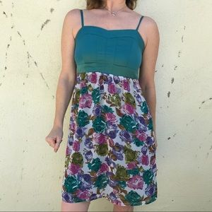Romy Dresses & Skirts - 🎈4/$25 GREEN FLORAL DRESS midi PARTY print as M