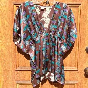 Lux Tops - Lux Butterfly sleeve Silky Top - Medium