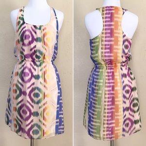 Madewell Broadway&Broome Electric Ikat Silk Dress