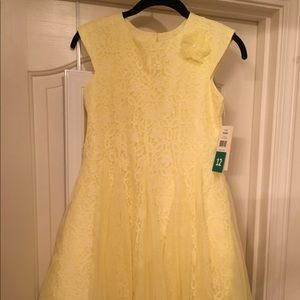 Other - Youth Girls Yellow Lace Overlay Dress