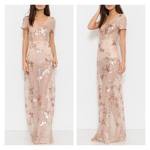 Dresses & Skirts - Clearance ✨Rose Gold Floral Sequin Dress