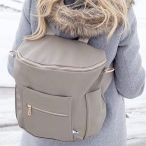 Fawn Design Diaper Backpack in Stone