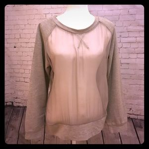 Aryn K Tops - Sheer Front Sweatshirt