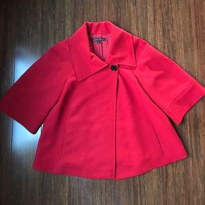 Lafayette 148 New York Jackets & Blazers - Lafayette 148 Red Cape Style Blazer w 3/4 Sleeves