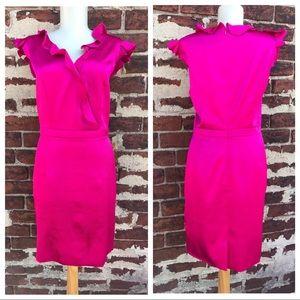 Z Spoke by Zac Posen Dresses & Skirts - NWT Z Spoke Zac Posen 10 Ruffle Satin Sheath Dress