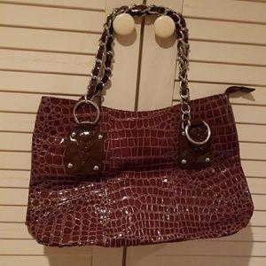 Fabulous Furs Handbags - Fabulous furs nwot brown croco style tote