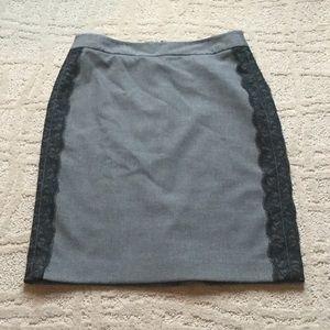 LOFT Dresses & Skirts - Gray and black lace skirt