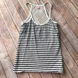 Lux Tops - LUX - Navy Striped Tank.