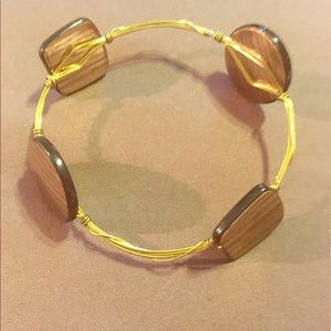 Bourbon and Bowties Jewelry - Bourbon and Bowties Lookalike.. Gold Wire Bangle$5
