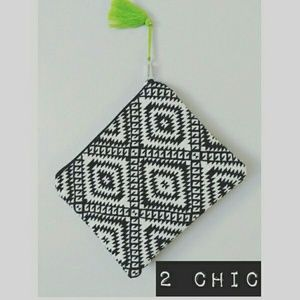 2 Chic Handbags - New! 2 Chic Tribal Pattern Cosmetic Pouch/Clutch