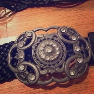 GERI C New York Accessories - Women's Rhinestone Fashion Belt M/L