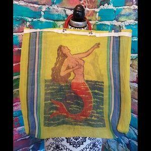 Mermaid Shopper Tote Bag Mesh Loteria UNIQUE!!