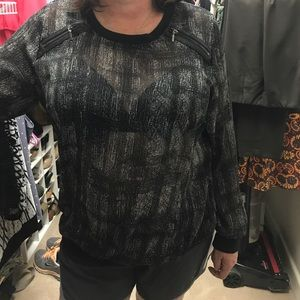 Lane Bryant long sleeve printed shirt