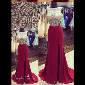 ✨Cassandra stone Macduggal gorgeous red prom dress