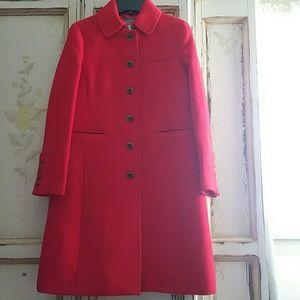 JCrew red double cloth Coat size 8 P