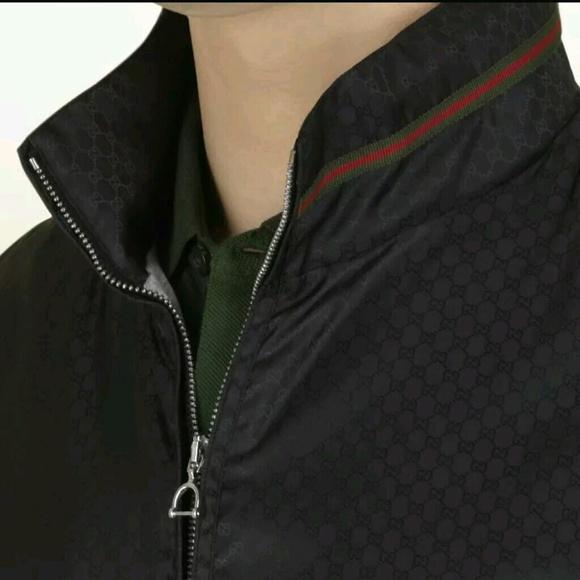 6988abbf72d Gucci nylon black jacket size 44 ( US small)