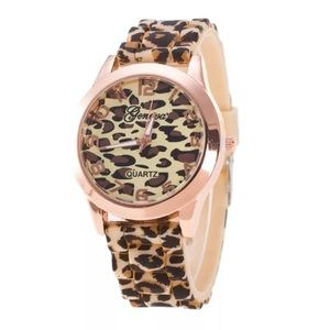 LEOPARD ROSE GOLD JELLY GENEVA WATCH