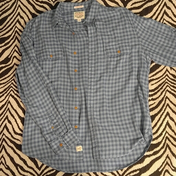 88 off lucky brand other lucky brand blue ginham for Lucky brand button down shirts