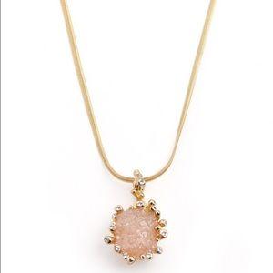 Jewelmint Druzzy Crystal Gold Necklace