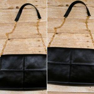 Paloma Picasso Black Leather Handbag