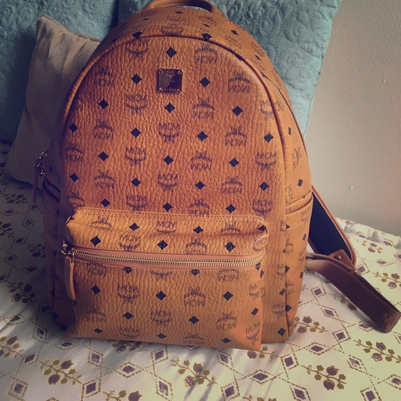 41150ba32 MCM Bags | Stark Cognac Medium Backpack New | Poshmark