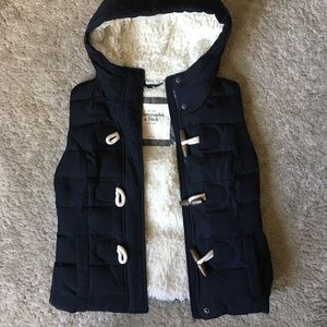 Abercrombie and Fitch hooded vest!