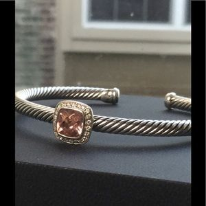 David Yurman Jewelry - David Yurman Morganite Albion Cable Bracelet