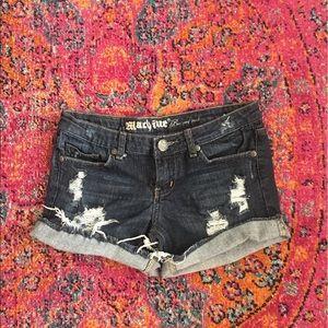 Dark Wash Denim Summer Shorts