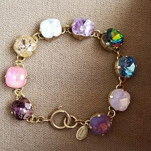 Catherine Popesco Jewelry - Large stone bracelet- Multi color