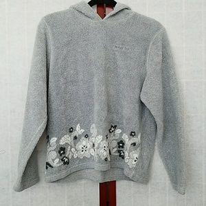 Limited Too gray hooded sweatshirt.
