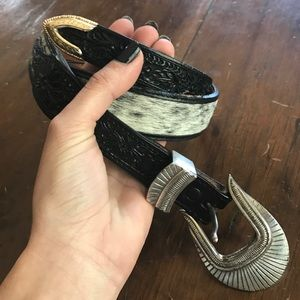 Will Leather Goods Accessories - NWOT pony hair western riding belt