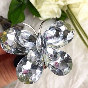 Jewelry - Crystal butterfly statement ring adjustable