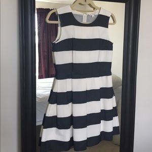 GAP striped flare dress